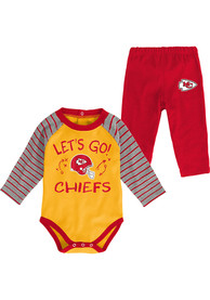 Kansas City Chiefs Infant Touchdown Top and Bottom - Red