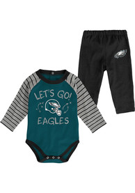 Philadelphia Eagles Infant Touchdown Top and Bottom - Midnight Green