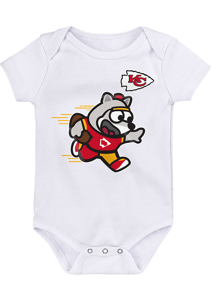 Kansas City Chiefs Baby White Mascot One Piece