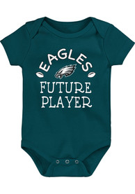 Philadelphia Eagles Baby Future Star One Piece - Midnight Green