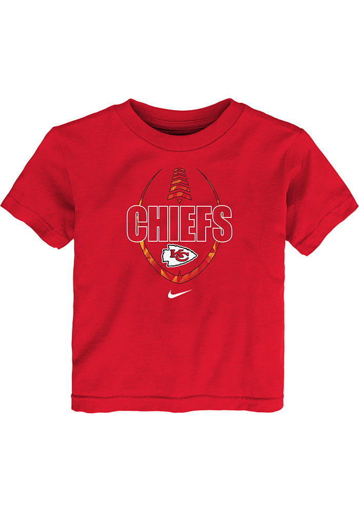 Nike Kansas City Chiefs Toddler Red Football Icon Short Sleeve T-Shirt - Image 1