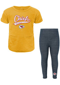Kansas City Chiefs Toddler Girls Diamond Top and Bottom - Red