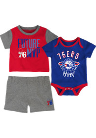 Philadelphia 76ers Infant Putting Up Numbers Top and Bottom - Blue