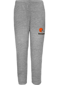 Cleveland Browns Youth Essential Poly Track Pants - Grey