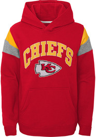 Kansas City Chiefs Youth Throwback Hooded Sweatshirt - Red