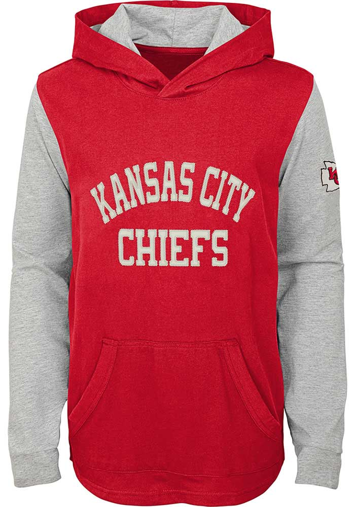 Kansas City Chiefs Youth Red The Legend Long Sleeve Hoodie - Image 1