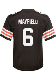 Baker Mayfield Cleveland Browns Youth Nike 2020 Home Football Jersey - Brown