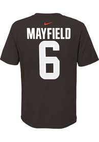 Baker Mayfield Cleveland Browns Youth Name Number T-Shirt - Brown