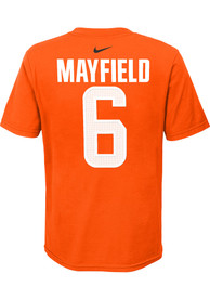 Baker Mayfield Cleveland Browns Youth Name Number T-Shirt - Orange