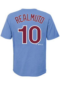 JT Realmuto Philadelphia Phillies Youth Name and Number T-Shirt - Light Blue