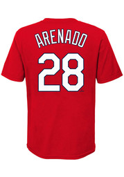 Nolan Arenado St Louis Cardinals Youth Name and Number T-Shirt - Red
