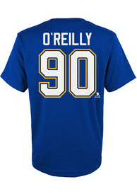 Ryan O'Reilly St Louis Blues Youth Name and Number T-Shirt - Blue