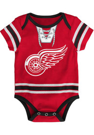 Detroit Red Wings Baby Hockey Pro One Piece - Red
