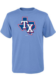 Texas Rangers Youth Alternate Logo T-Shirt - Light Blue