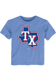 Texas Rangers Toddler Alternate Logo T-Shirt - Light Blue