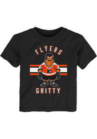 Gritty Philadelphia Flyers Youth Outer Stuff Gritty Life T-Shirt - Black