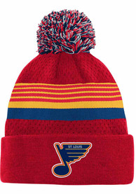 St Louis Blues Youth Special Edition Birdseye Pom Knit Hat - Red