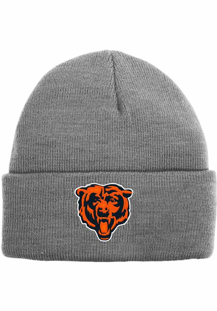 Chicago Bears Heather Cuffed Knit - Grey