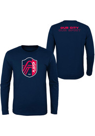 St Louis City SC Youth Our City T-Shirt - Navy Blue