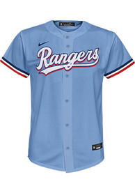 Texas Rangers Youth Nike 2020 Alternate Baseball Jersey - Light Blue