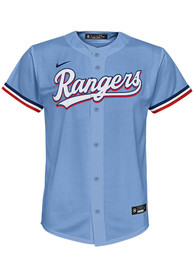 Texas Rangers Boys Nike 2020 Alternate Baseball Jersey - Light Blue