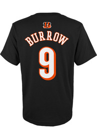 Joe Burrow Cincinnati Bengals Youth Name and Number T-Shirt - Black