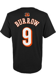 Joe Burrow Cincinnati Bengals Boys Outer Stuff Player T-Shirt - Black