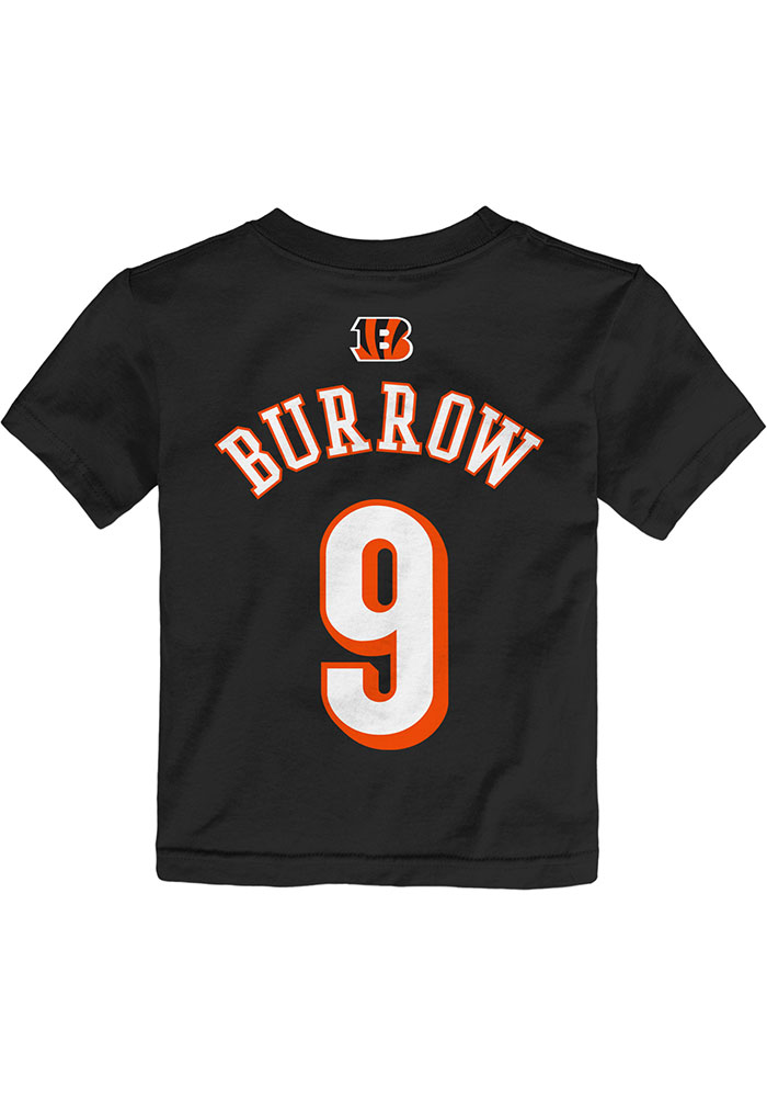 Joe Burrow Cincinnati Bengals Toddler Outer Stuff Player T-Shirt - Black