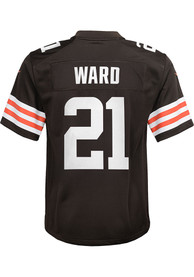 Denzel Ward Cleveland Browns Youth Nike Gameday Football Jersey - Brown
