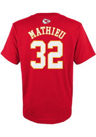 Tyrann Mathieu Kansas City Chiefs Youth Name and Number T-Shirt - Red