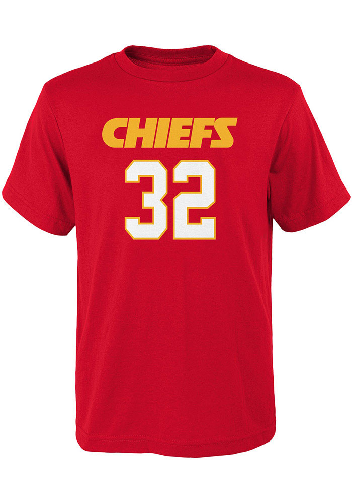 Tyrann Mathieu Kansas City Chiefs Youth Red Name and Number Player Tee - Image 2