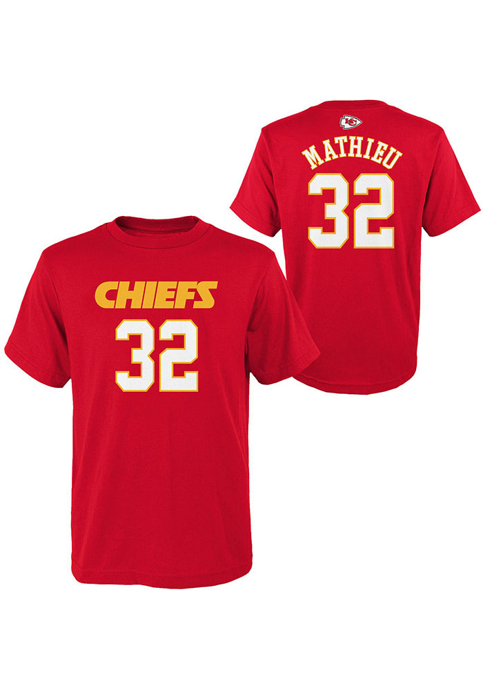 Tyrann Mathieu Kansas City Chiefs Youth Red Name and Number Player Tee - Image 3