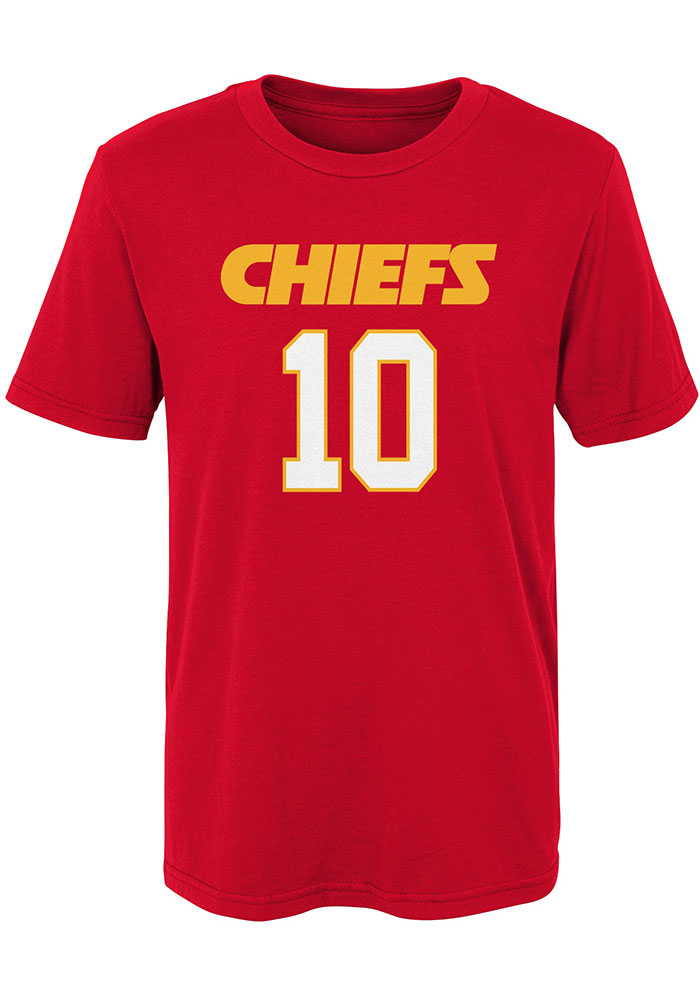 Tyreek Hill Kansas City Chiefs Youth Red Name and Number Player Tee - Image 2