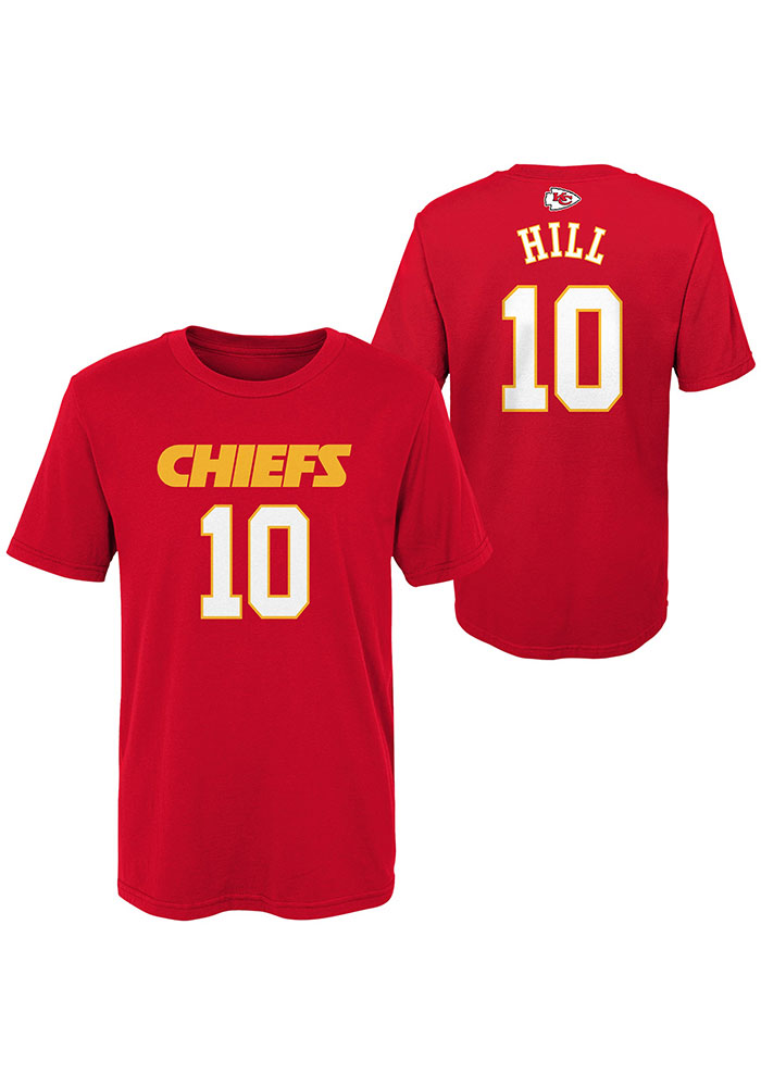 Tyreek Hill Kansas City Chiefs Youth Red Name and Number Player Tee - Image 3
