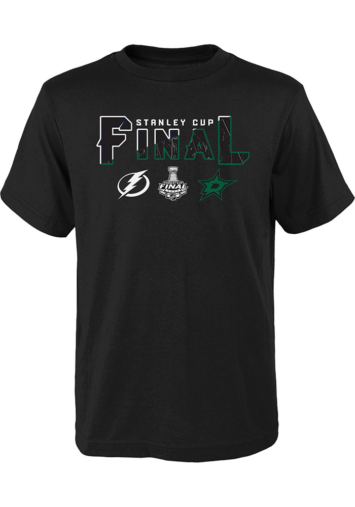 Dallas Stars Youth Black 2020 Stanley Cup Final Participant Short Sleeve T-Shirt - Image 1