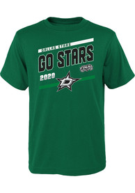 Dallas Stars Youth 2020 Stanley Cup Final Participant Slogan T-Shirt - Kelly Green