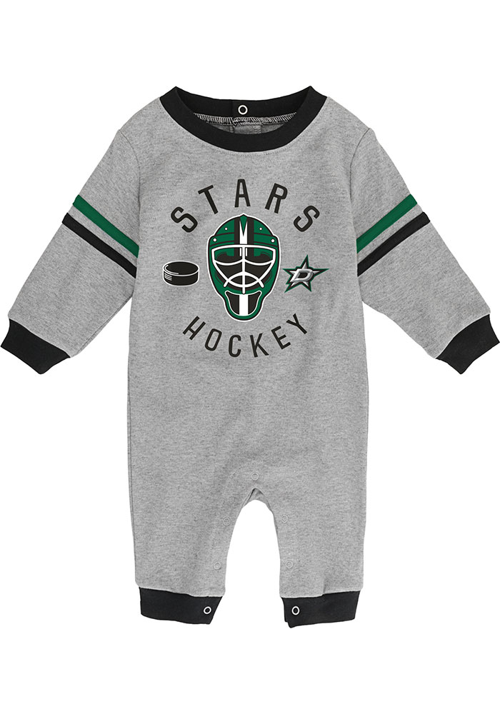 Dallas Stars Baby Masked Defenders One Piece - Grey