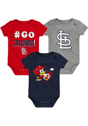 St Louis Cardinals Baby Born to Win One Piece - Navy Blue