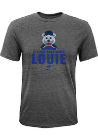 Louie St Louis Blues Youth Outer Stuff Its Not Easy Being Louie Fashion T-Shirt - Grey
