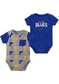 St Louis Blues Baby Little Shooter One Piece - Blue