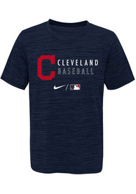 Cleveland Indians Youth Nike Velocity Practice T-Shirt - Navy Blue
