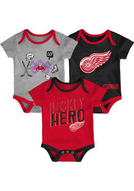 Detroit Red Wings Baby Triple Clapper 3 PC One Piece - Red