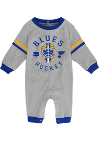 St Louis Blues Baby Masked Defenders One Piece - Grey