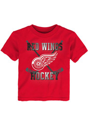 Detroit Red Wings Toddler Red Classic Sticks Short Sleeve T-Shirt