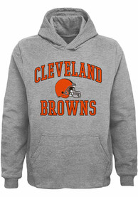 Cleveland Browns Youth #1 Design Hooded Sweatshirt - Grey