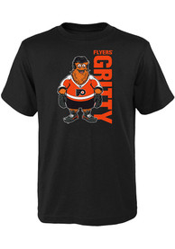 Gritty Philadelphia Flyers Youth Outer Stuff Mascot Pride T-Shirt - Black