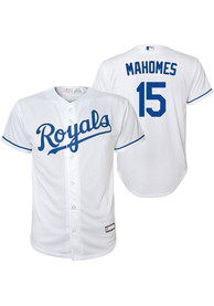 Patrick Mahomes Kansas City Royals Youth Outer Stuff Alt Replica Baseball Jersey - White
