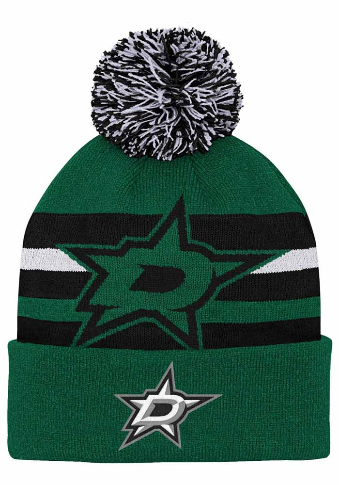 Dallas Stars Green Heritage Cuff Youth Knit Hat - Image 1