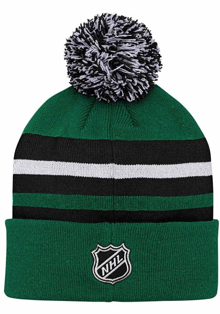 Dallas Stars Green Heritage Cuff Youth Knit Hat - Image 2