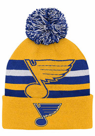 St Louis Blues Youth Heritage Knit Knit Hat - Blue